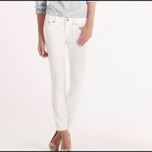 J. Crew stretchy Skinny White Jeans/Pants Sz 27
